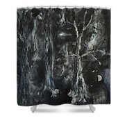 Black Magic Mystery Shower Curtain