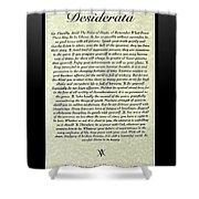 Black Framed Original Desiderata Poster Shower Curtain