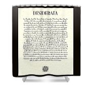 Black Border Sunburst Desiderata Poem Shower Curtain