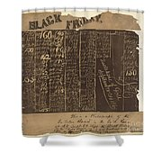 Black Friday, 1869 Shower Curtain