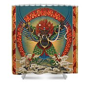 Black Garuda - Tsasum Tersar Shower Curtain