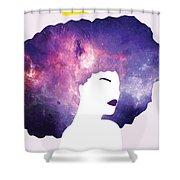 Black Girl Magic Lavender Shower Curtain