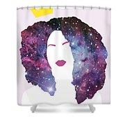 Black Girl Magic Sparkle Shower Curtain