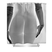 Black Gloves And Light Shower Curtain