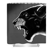 Black Glow Tiger Shower Curtain