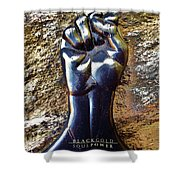 Black Gold Soul Power Shower Curtain