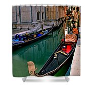 Black Gondola Shower Curtain