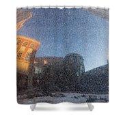 Black Granite Sphere Shower Curtain