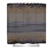 Black Grey Tan Landscape Shower Curtain