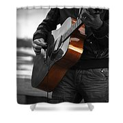 Black Guitar Shower Curtain