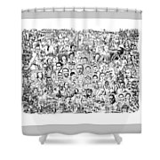 Black Heritage Shower Curtain