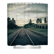 Black Hills National Cemetery  Shower Curtain