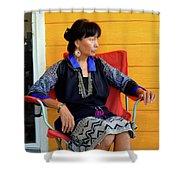 Black Hmong Sapa 1 Shower Curtain
