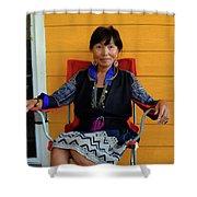 Black Hmong Sapa 3 Shower Curtain
