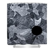 Black Hole - Galvanized Steel - Abstract Shower Curtain