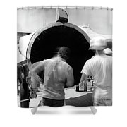 Black Hole One Shower Curtain
