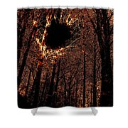 Black Hole Sun Shower Curtain