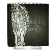 Black Horse Sight Shower Curtain