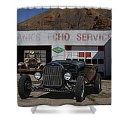 Black Ford Hot Rod Convertible Shower Curtain