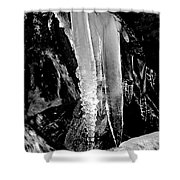 Black Ice #2 Shower Curtain
