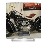 Black Indian Motorcycle Shower Curtain