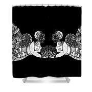 Black Infinity Shower Curtain