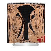 Black Ivory Issue 1 Woodcut Shower Curtain
