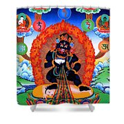 Black Jambhala  1 Shower Curtain