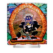 Black Jambhala  5 Shower Curtain