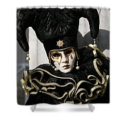 Black Jester Shower Curtain