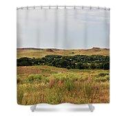 Black Kettle View Shower Curtain