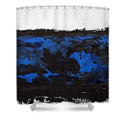 Black Lace Shower Curtain by KR Moehr