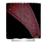 Black Lines On Red Flower Shower Curtain