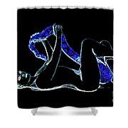 Black Lite Shower Curtain