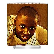 Young Black Male Teen 1 Shower Curtain