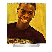 Young Black Male Teen 2 Shower Curtain