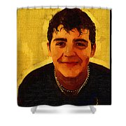 Young Black Male Teen 4 Shower Curtain
