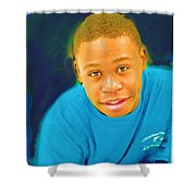 Young Black Male Teen 5 Shower Curtain