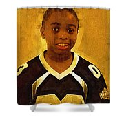 Young Black Male Teen 6 Shower Curtain