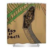 Black Mamba-kiss Of Death Shower Curtain