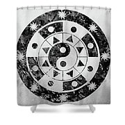 Mandala-black Shower Curtain