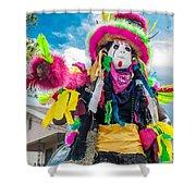 Black Mardi Gras Indian Shower Curtain