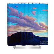 Black Mesa Sunset Shower Curtain