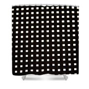 Black Metal Panel Abstract Shower Curtain