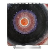 Black Moon Day Original Painting Shower Curtain