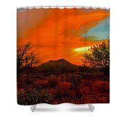 Black Mountain Mystic Shower Curtain