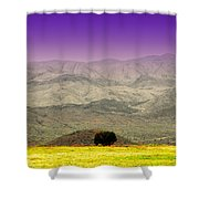 Black Mountains Az Shower Curtain