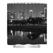 Black Night In Fort Worth Shower Curtain