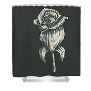 Black On Black Shower Curtain