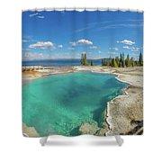 Black Pool, Yellowstone Shower Curtain